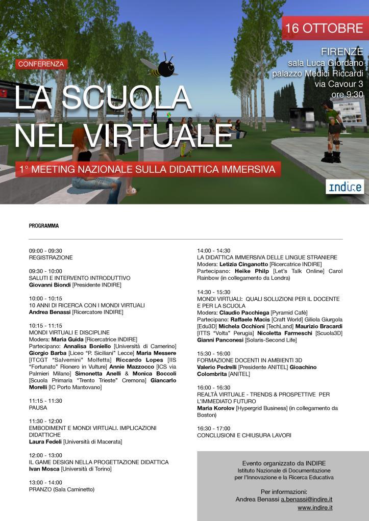 La Scuola nel Virtuale 2015 - Programma_Brochure